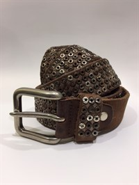 Depeche Belt Studs Brown
