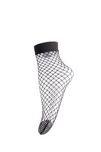 Sneaky Fox Big Fishnet Sock Black One Size