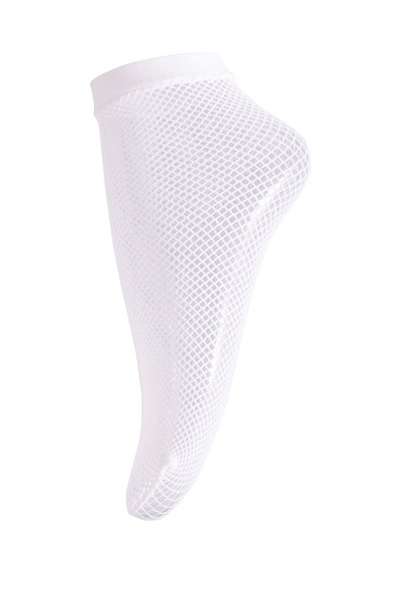 Sneaky Fox Fishnet sock White One Size