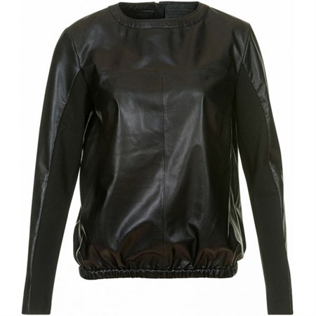 Depeche Sporty Top With Half Jersey Sleeve Black