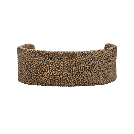 Dansk Smykkekunst TRIXIE TEXTURED BRACELET Coffee Gold