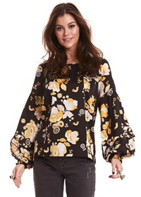 Odd Molly Love Bells Blouse Almost Black 119M-607
