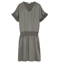 Casch et Soie Silke Dress Dusty Olive 19852