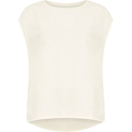 Coster Copenhagen Top in Cupro w. Jersey back Creme