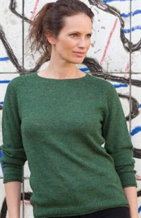 Gorridsen Athena Pullover Alpaca Strik Herbal Green