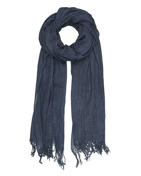Tif Tiffy Wool Scarf Navy 2813-002133