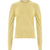 Coster Copenhagen Knit in Lurex w.volume at shoulder Light Yellow 196-2509
