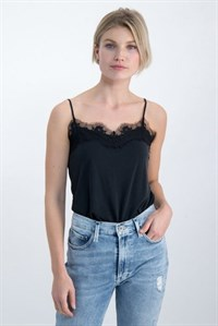 Garcia Singlet Blonde Top Black GS000101