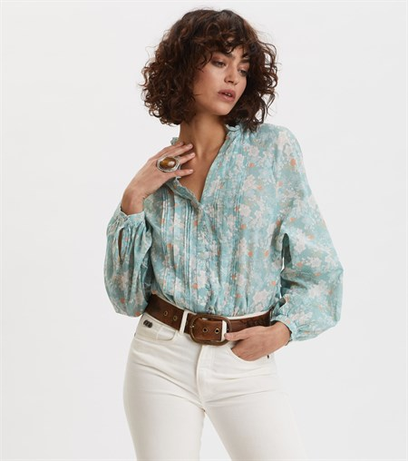 Odd Molly Memorable Blouse Blue Surf 320T-397