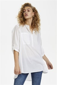 D/H Long Shirt With Large Pocket White