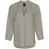 Luxzuz Linen Blouse Army